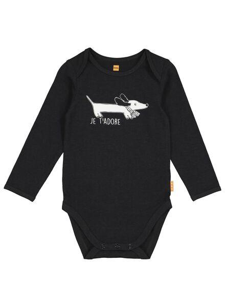 body stretch pour bébé en bambou noir noir - 1000016574 - HEMA