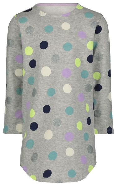 Kinder-Kleid, Punkte graumeliert graumeliert - 1000022588 - HEMA
