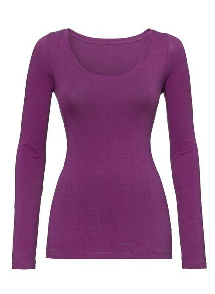 t-shirt femme fuchsia fuchsia - 1000005156 - HEMA