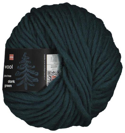 yarn wool 50 grams dark green - 1400220 - hema