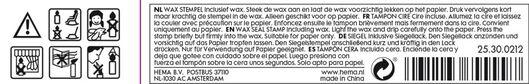 wax stamp - 25300212 - hema