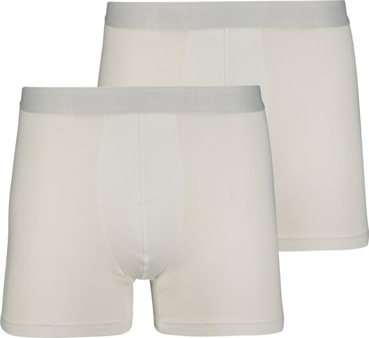 2-pack men's boxer shorts long with bamboo white white - 1000018771 - hema