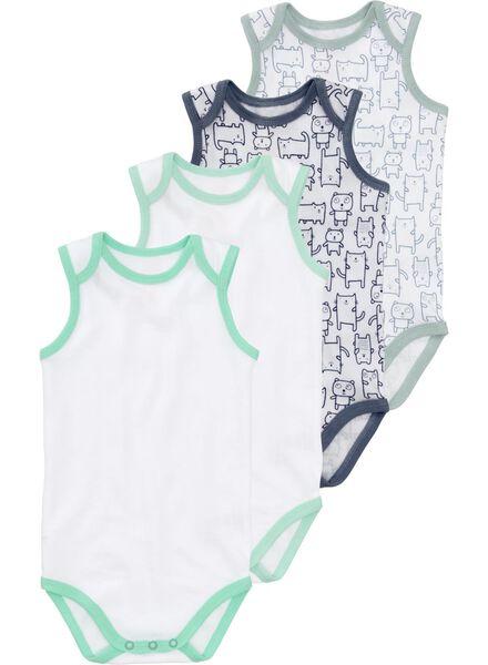 HEMA 4er-Pack Baby-Bodys Weiß