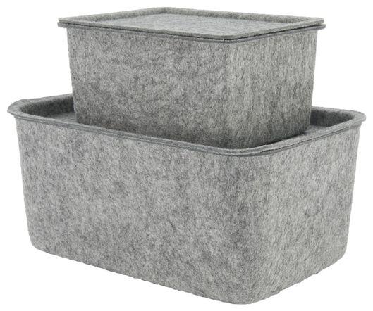 storage box 12.5x17x9 felt grey - 39821137 - hema