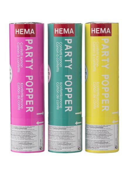 3 canons à confettis - 14210053 - HEMA