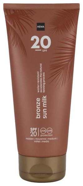 bronzing milk SPF20 200ml - 11610221 - HEMA