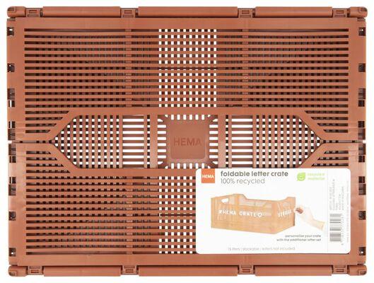 Buchstabentafel-Klappkiste, recycelt, 30 x 40 x 17 cm, braun - 39821025 - HEMA
