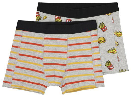2-pack children's boxers grey melange grey melange - 1000020452 - hema