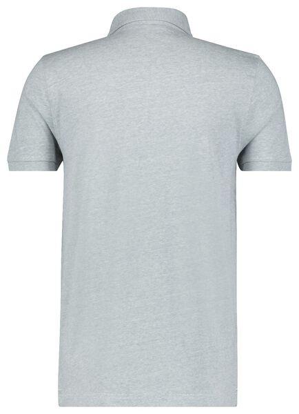 herenpolo jersey blauw blauw - 1000023567 - HEMA