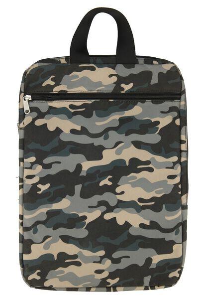 sac à bandoulière pour ordinateur portable camouflage vert - 39600177 - HEMA