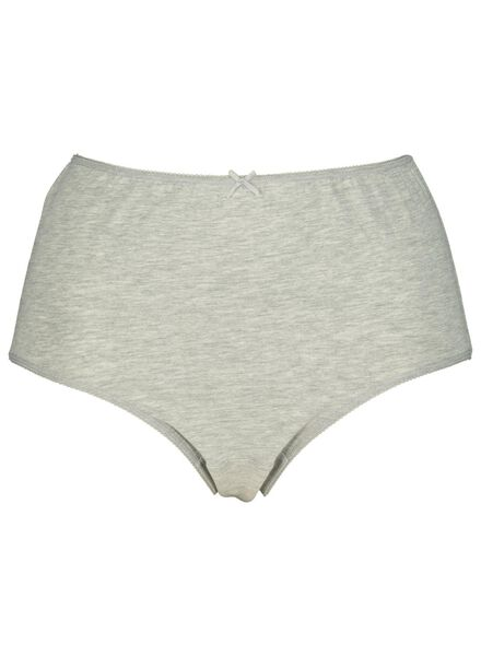 3-pack women's briefs cotton grey melange grey melange - 1000014496 - hema