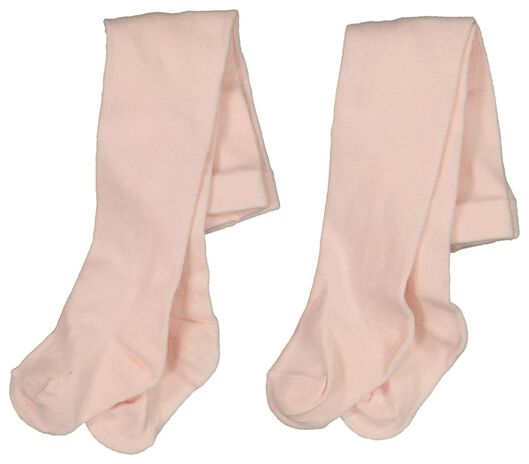 2-pack baby tights pink pink - 1000018733 - hema