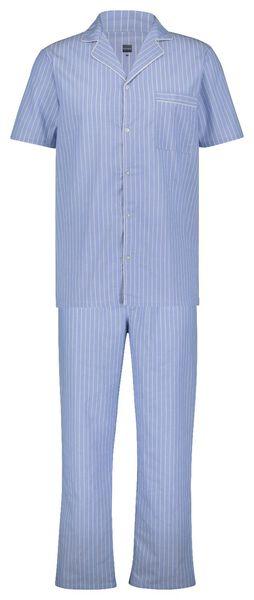 pyjama pour homme popeline rayure bleu clair bleu clair - 1000022921 - HEMA