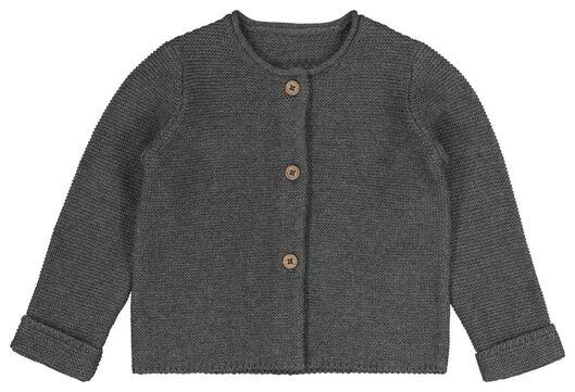 HEMA Baby-Strickjacke Grau