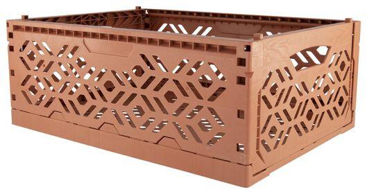 caisse pliante recyclée - 39 x 29 x 15 cm - corail - 39891048 - HEMA