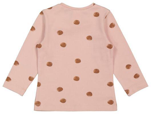 baby t-shirt stippen roze roze - 1000022082 - HEMA