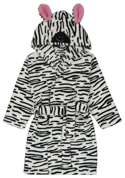 Kinder-Zebra-Bademantel weiß weiß - 1000018487 - HEMA