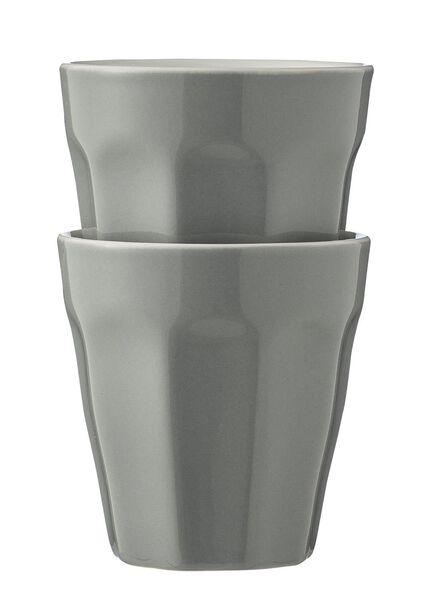2-pack mugs 9 cl 9cl light grey - 9680042 - hema