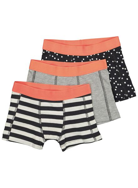 3-pack children's boxers anthracite anthracite - 1000014603 - hema