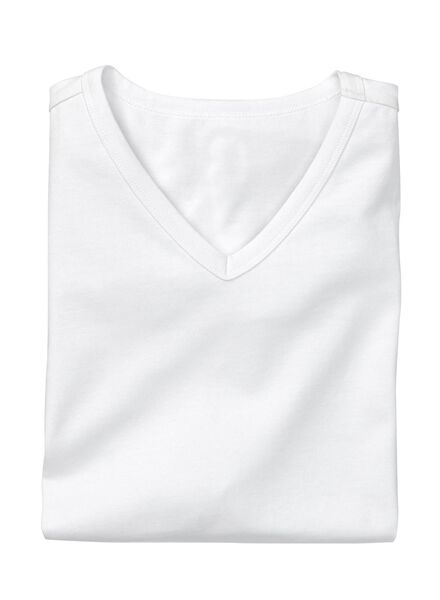 men's slim-fit T-shirt white white - 1000005979 - hema