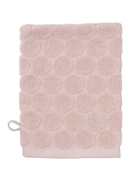 gant de toilette - qualité épaisse - rose pois - 5200070 - HEMA
