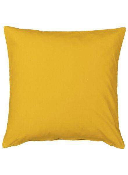 housse de coussin - 50 x 50 - jaune - 7392010 - HEMA