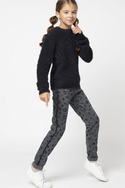 kinder sweatbroek luipaard grijsmelange grijsmelange - 1000021105 - HEMA