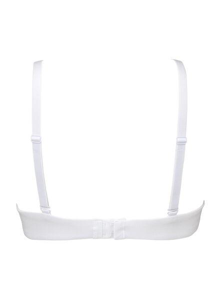 padded T- shirt bra no underwires cotton white white - 1000006603 - hema