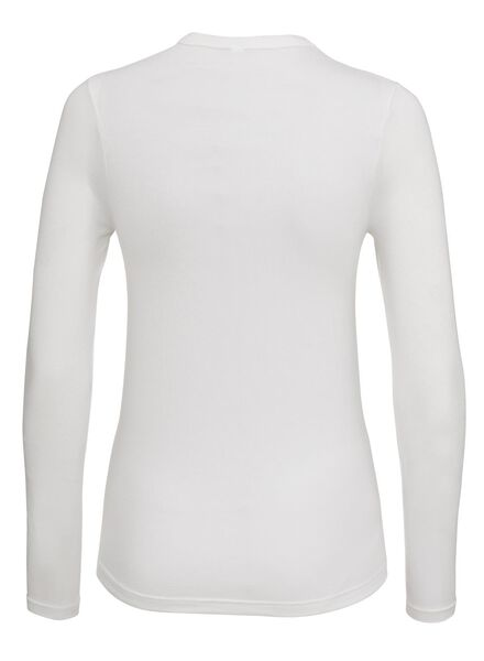 women's thermal T-shirt white white - 1000002188 - hema