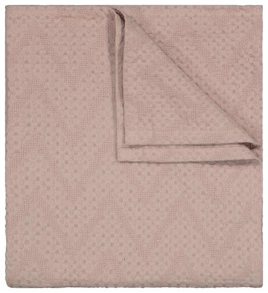 plaid 130x150 gaufré rose - 13211131 - HEMA