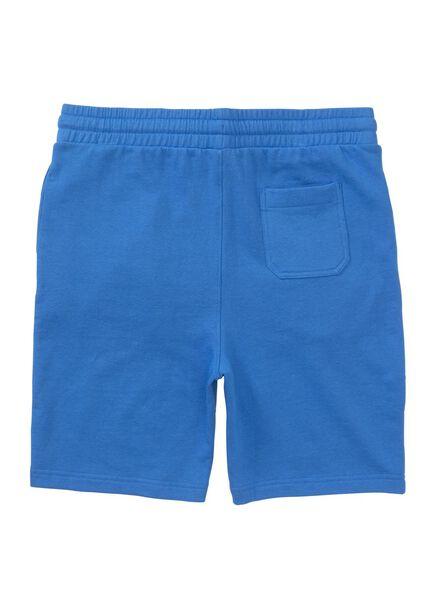 men's shorts sweatshirt fabric mid blue mid blue - 1000006135 - hema