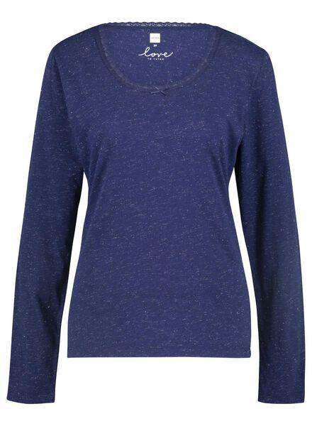 Damen-Nachthemd dunkelblau dunkelblau - 1000015497 - HEMA