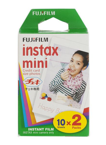 film couleur Instax mini Glossy (2x10 poses) - 60300125 - HEMA