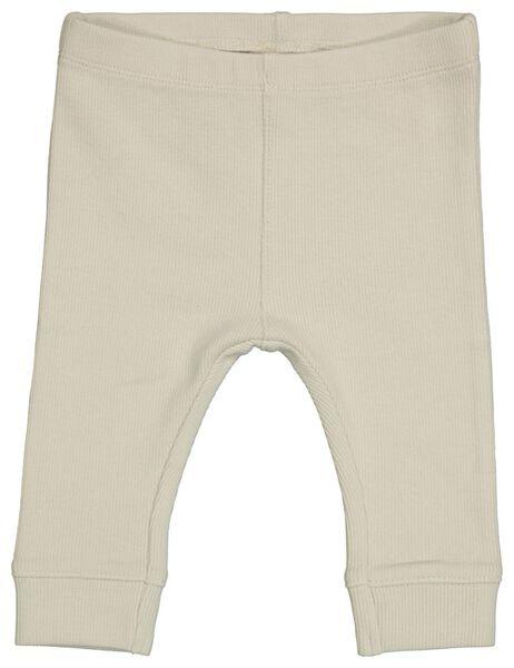 Newborn-Leggings, gerippt, elastische Biobaumwolle ecru ecru - 1000022712 - HEMA
