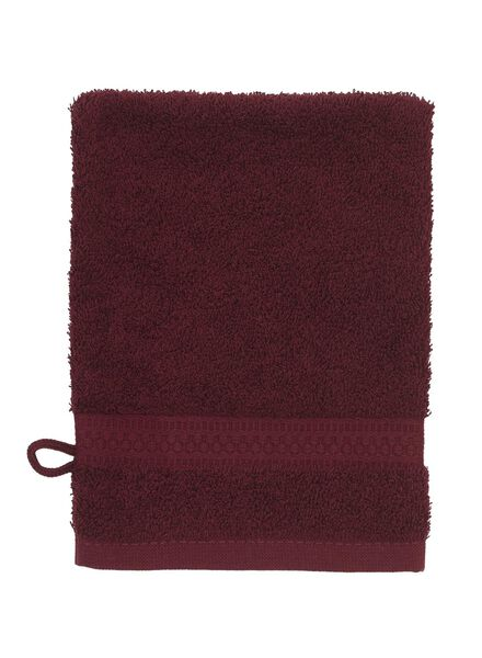 wash mitt - heavy quality - bordeaux dark red wash mitt - 5220007 - hema