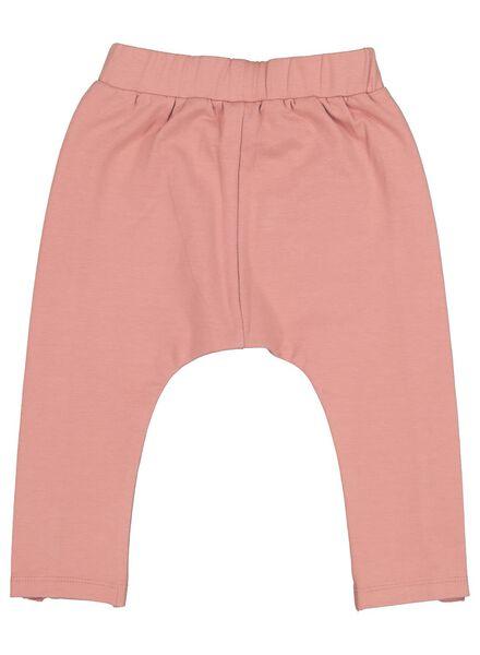 pantalon sweat bébé avec volant rose rose - 1000016987 - HEMA