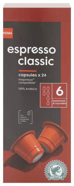 24 capsules de café espresso classic - 17180005 - HEMA