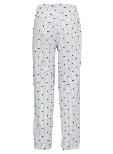 women's pyjama bottoms cotton light blue light blue - 1000011879 - hema