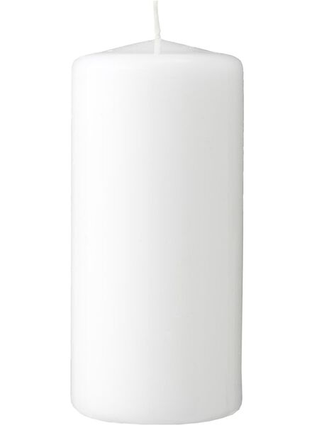 grosses bougies blanc blanc - 1000015636 - HEMA