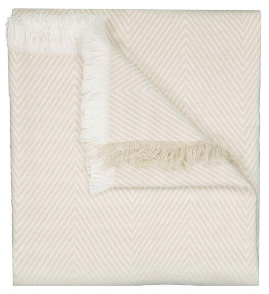 plaid 130x150 zigzag crème/wit - 7311041 - HEMA