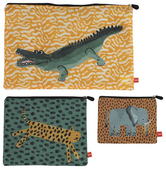 3 luggage organizers - safari - 18630304 - hema