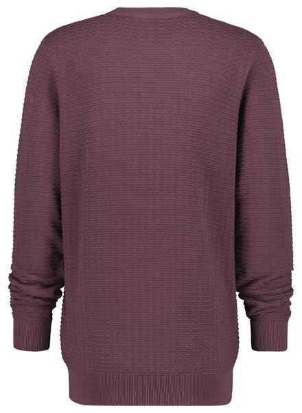 men's sweater dark red dark red - 1000016926 - hema