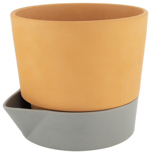 cache-pot avec réservoir à eau Ø25 cm terre cuite - 41810064 - HEMA