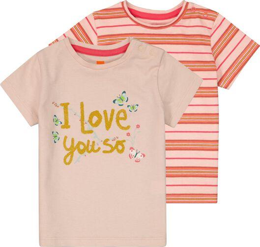 HEMA 2er-Pack Baby-Shirts Rosa
