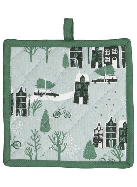 manique avec petites maisons - verte - 5400163 - HEMA