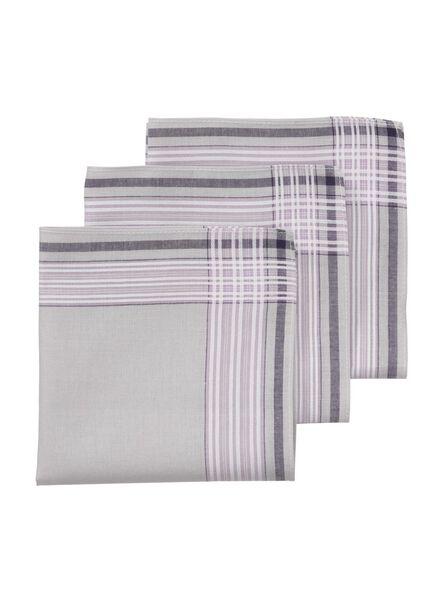 3er-Pack Taschentücher, 30 x 30 cm - 1400015 - HEMA