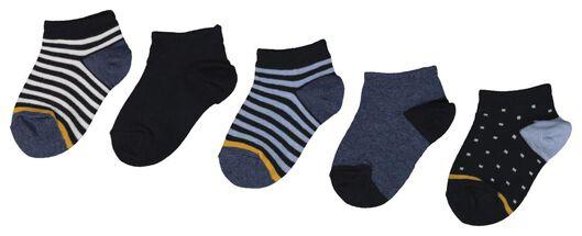 5er-Pack Kinder-Kurzsocken dunkelblau dunkelblau - 1000018423 - HEMA
