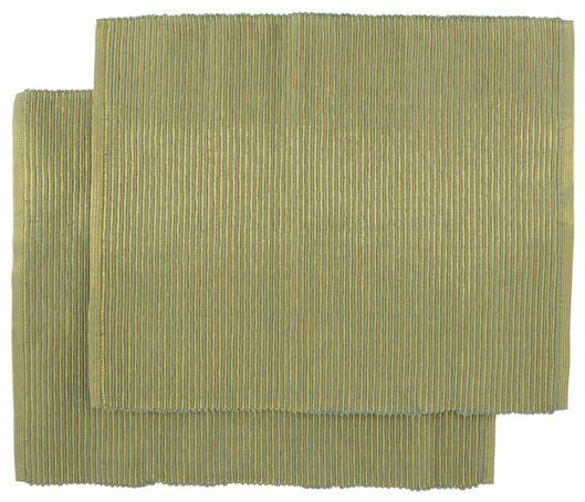 2 place mats cotton 32x42 green/gold - 5300092 - hema