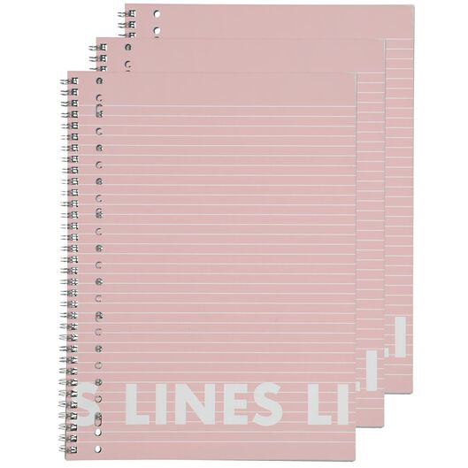 3 lecture notebooks A4 ruled - 14101641 - hema