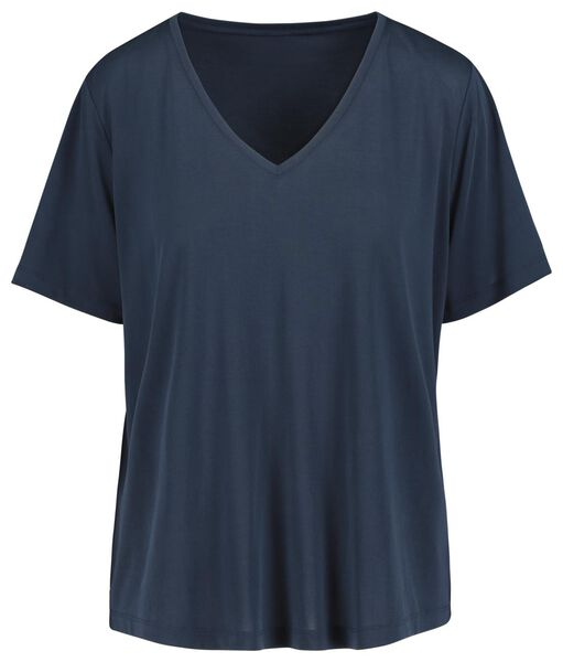 women's T-shirt dark blue dark blue - 1000019414 - hema